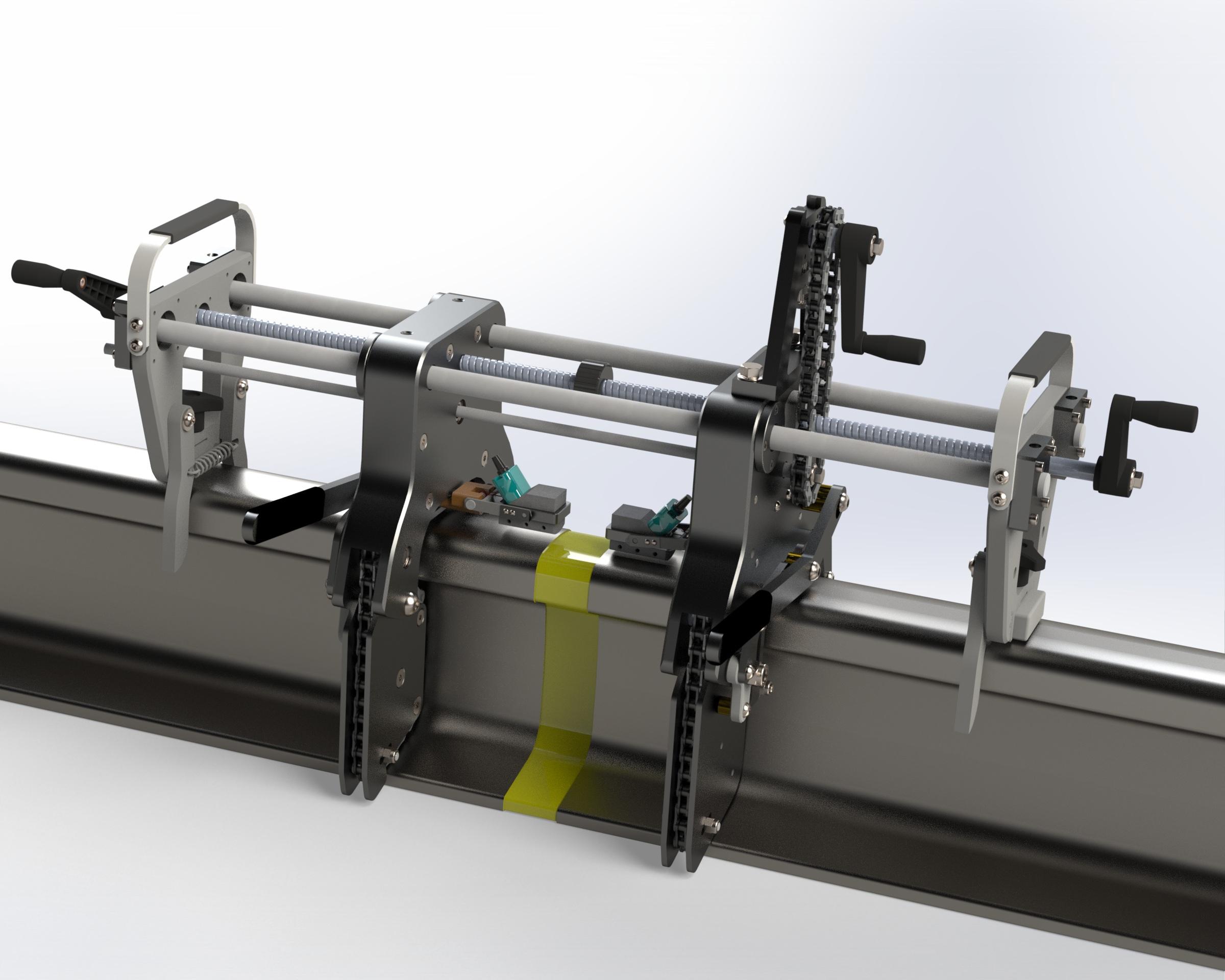 Автоматизированный модуль диагностики и неразрушающего контроля сварных стыков рельс