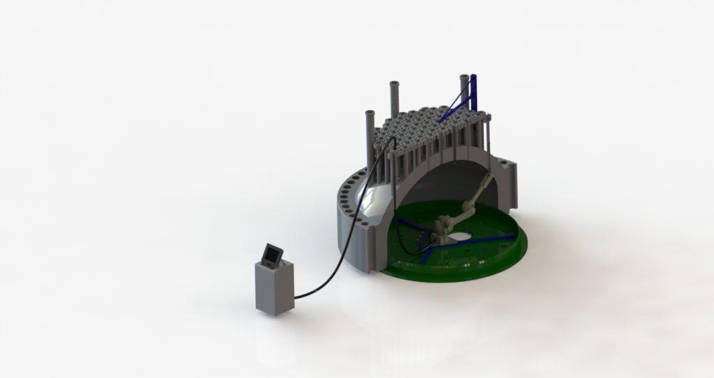 Автономная роботизированная установка неразрушающего контроля для реактора ВВР-1200