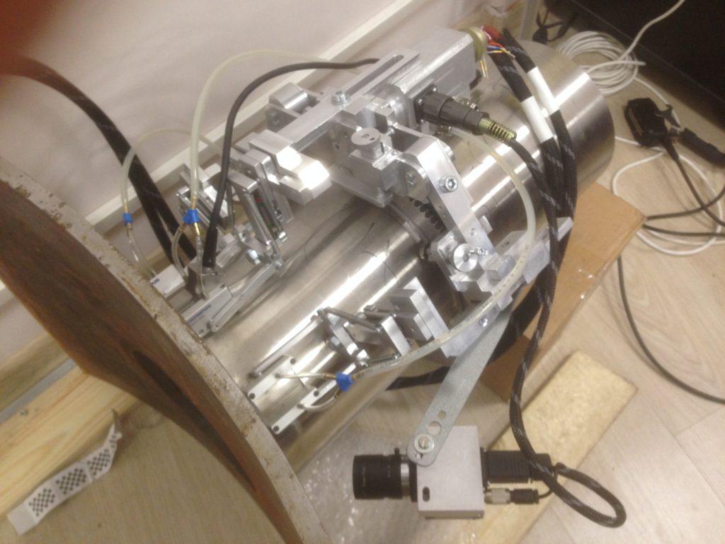 Модуль для автоматизированного НК сварных соединений трубопроводов