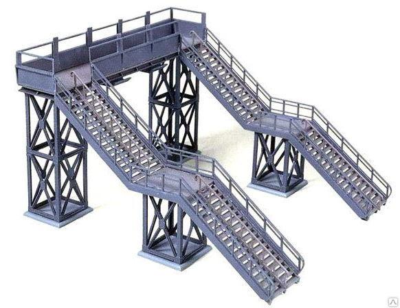 Лестничный дорожный перегон. Проектирование лестниц. Разработка лестничных маршей. проектирование металлоконструкций. Разработка км и кмд.