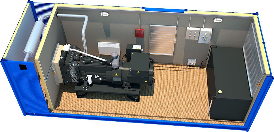 Дизельная Генераторная Установка (ДГУ). Проектирование оборудования. Разработка деталей и узлов