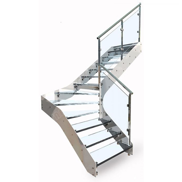 Industrial-laminate-glass-stair-treads-kit-stainless