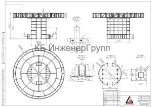 чертежи для металлоконструкции для торгового центра под ключ от КБ ИнженерГрупп. Торговый павильон из металлоконструкций