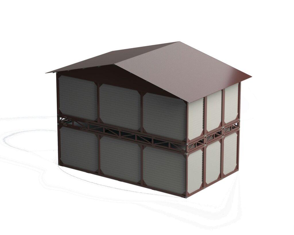 дом из блок боксов. контернеры разработка от КБ инженерГрупп. производство контейнеров
