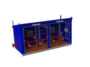 разработка контейнера и установок контейнерного типа.